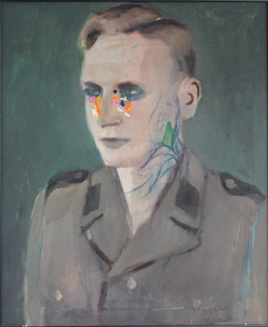 Alexander Tinei (f. 1967). «Officer». 2009, Oil on canvas. 60 x 50cm